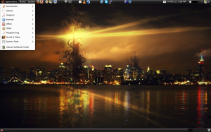 Screenshot of Ubuntu 9.10 Desktop